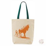 "Bag ""Lavrar"" greenstrap, Orangelogo"