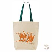 "Bag ""Junta"" Green strap,Orange logo"