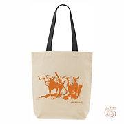 """Bag""""Junta"""" black strap,Orangelogo"""