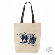 "Bag""Junta"" black strap, Blue logo"
