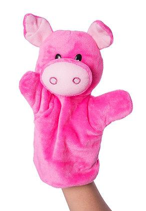 Dimpy Stuff Pig Hand Puppet
