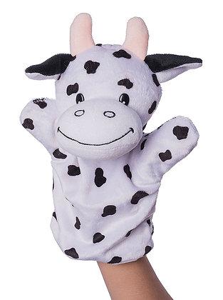 Dimpy Stuff Cow Hand Puppet