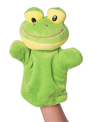 Dimpy Stuff Frog Hand Puppet