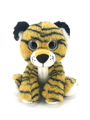 Yellow Tiger Plush Animal - Pebble Palz