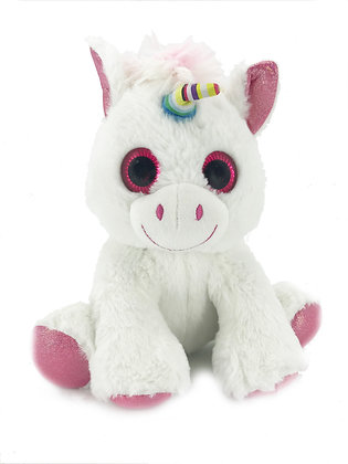 White Unicorn Plush Animal - Pebble Palz
