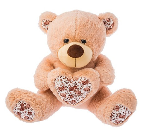 Dimpy Stuff Brown Flower Bear with Heart