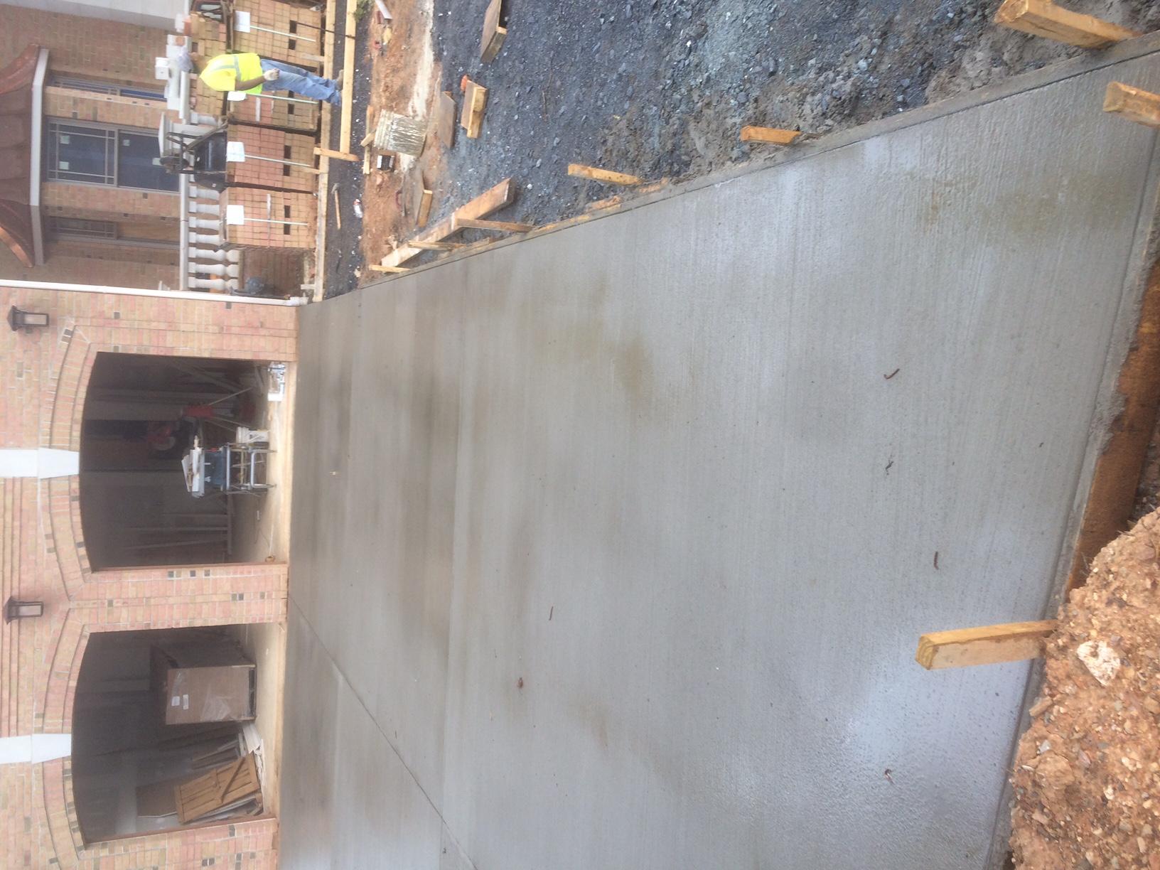 Concrete Pad Driveway