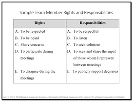 Sample Team Member Rights and Responsibilities