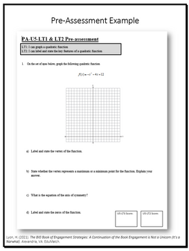 Pre-Assessment Example