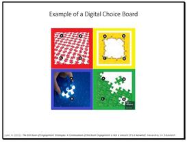 Examle of a Digital Choice Board