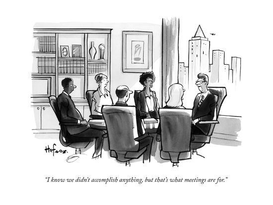 New Yorker Cartoon about Meetings