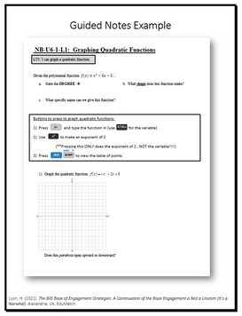Guided Notes Example