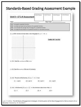 Standards-Based Grading Assessment Example