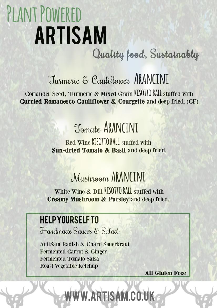 Plant Powered ArtiSam - Vegan Arancini Menu