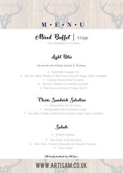 Delivered Mixed Buffet - 2018 Menu