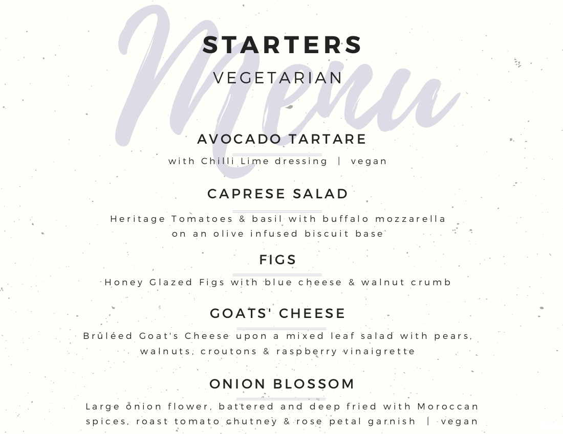 Vegetarian Starters