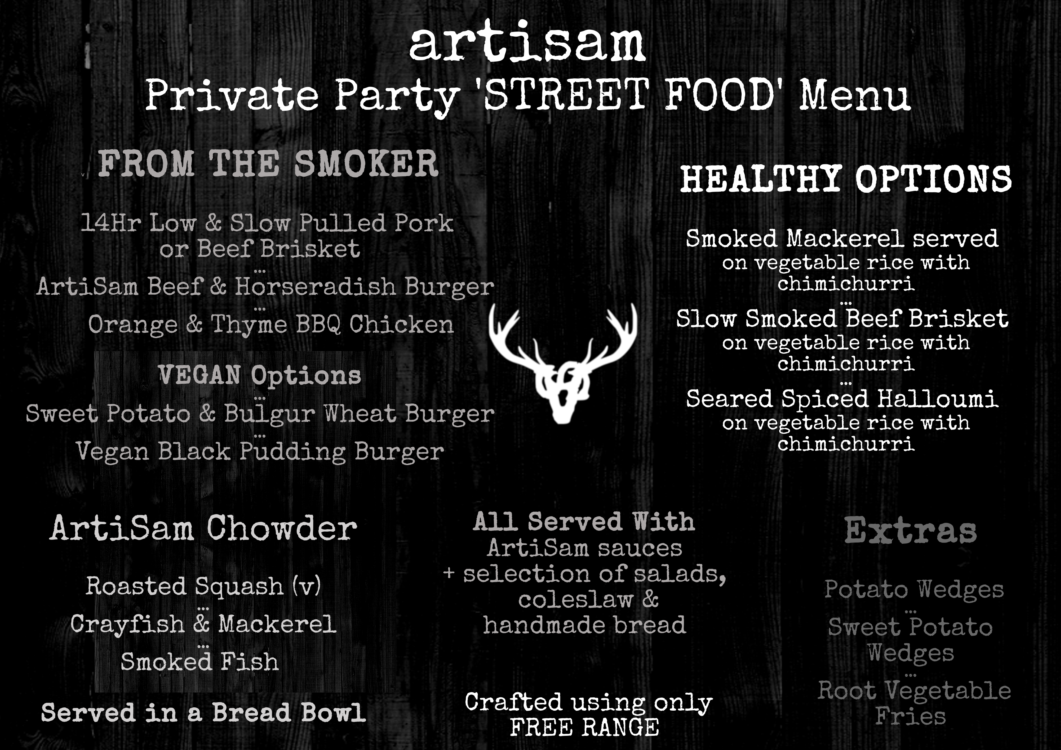Private Party 'Street Food' Menu