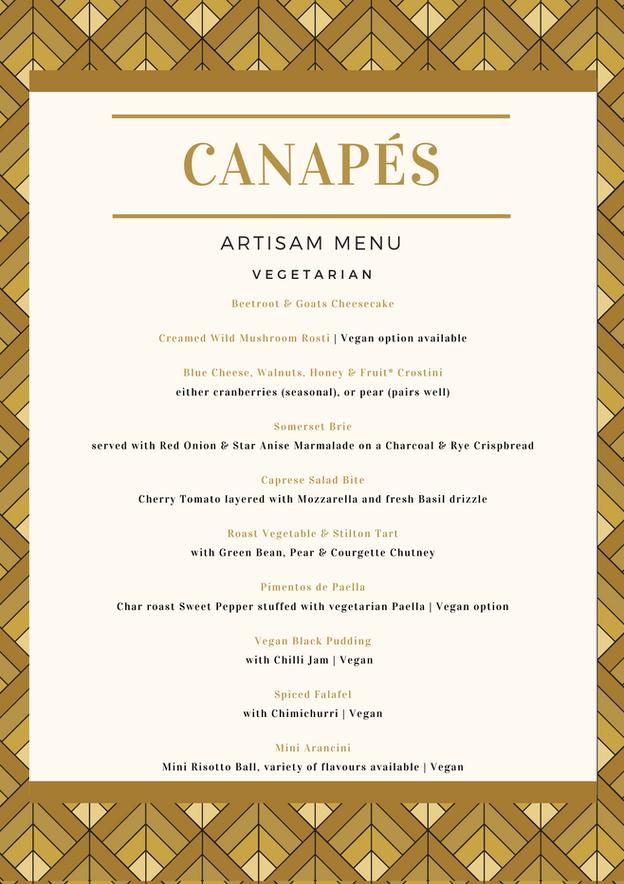 Canapes - Vegetarian