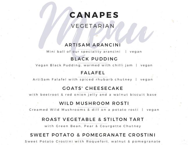 Vegetarian Canapes