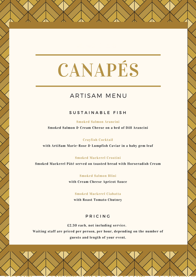 Canapes - Sustainable Fish