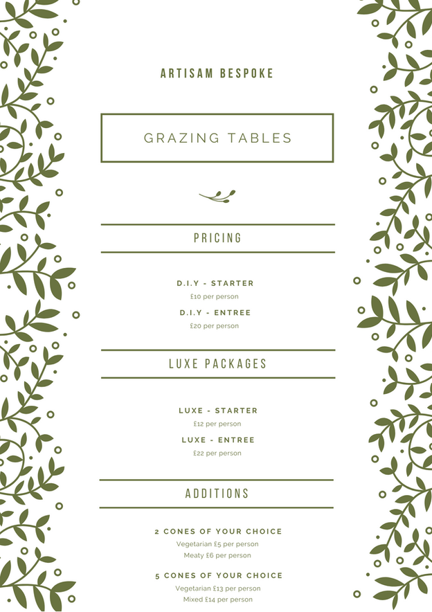 Grazing Table Prices
