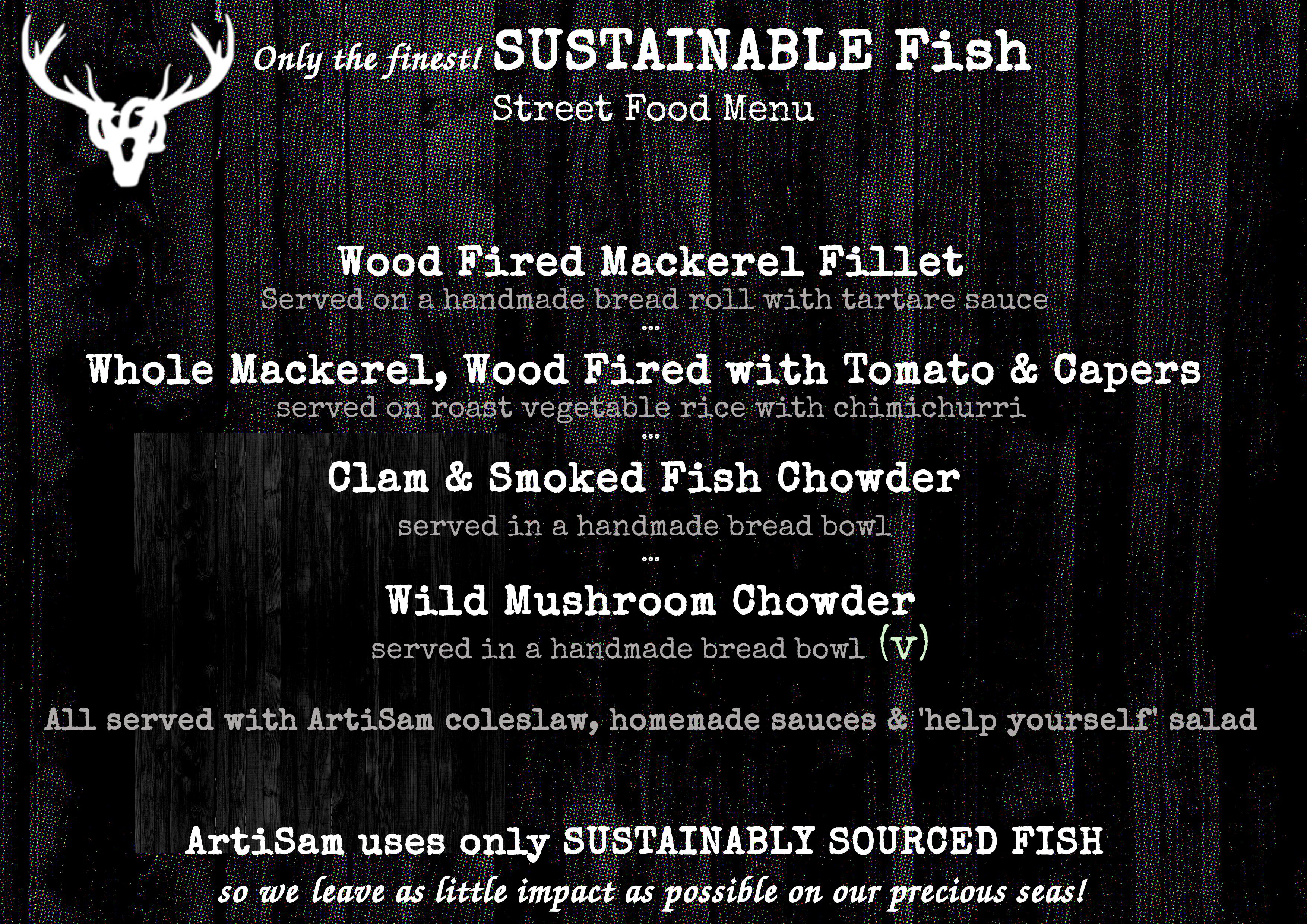 Sustainable Fish Menu