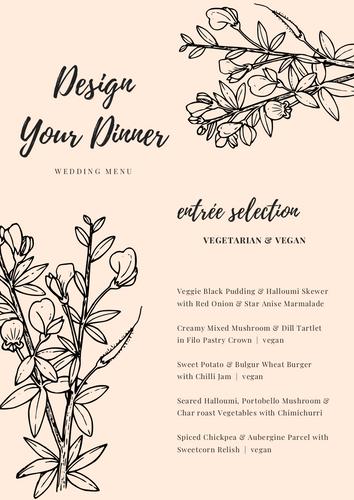 Design Your Dinner Menu