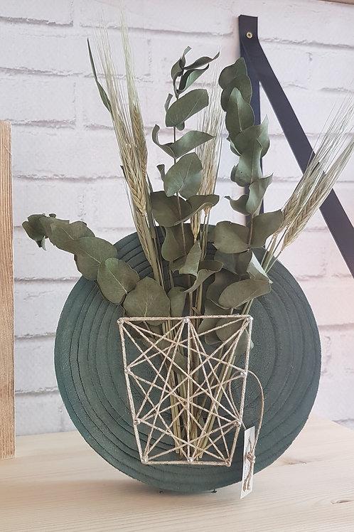 Rondin vase fleuri