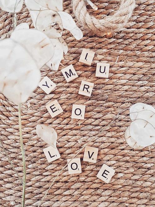 Personnalisation lettres en bois