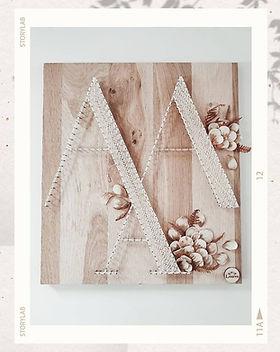 Création personnalisée feuilles de céramique, or, fougères