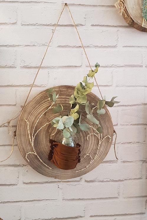 Rondin Pot de fleurs et Cuir