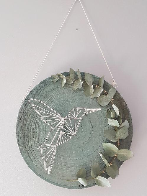 Rondin vert colibri blanc