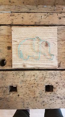 Eléphant bleu Louve