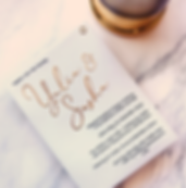 wedding invitation gold foil