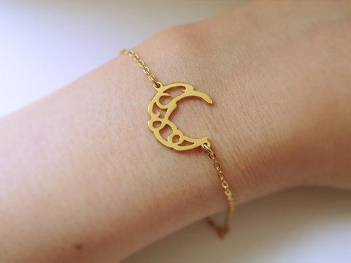 CRESCENT in Arabic bracelet