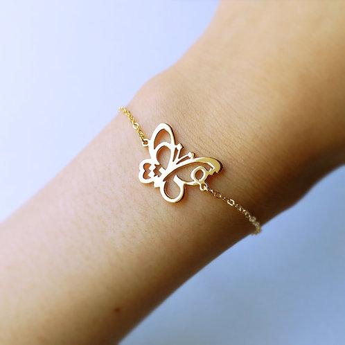 BUTTERFLY in Arabic bracelet