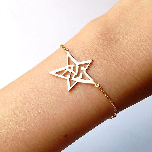 STAR in Arabic bracelet
