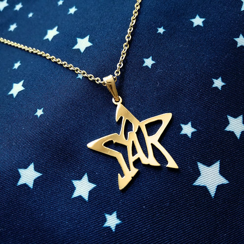 STAR in English pendant (symmetry)