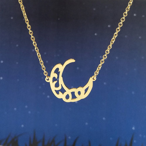 CRESCENT in Arabic pendant