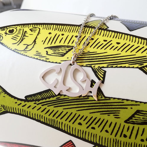 FISH in English pendant