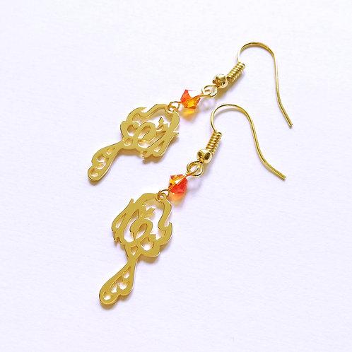 PHOENIX in Arabic earring