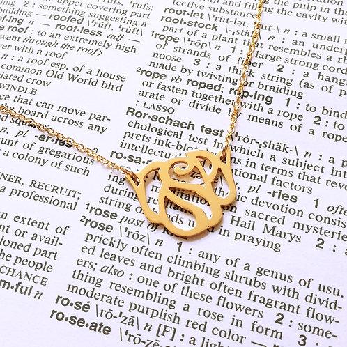 ROSE in English pendant