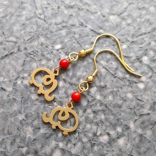ELEPHANT in Arabic earring
