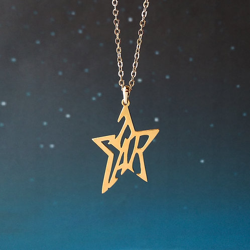 STAR in English pendant