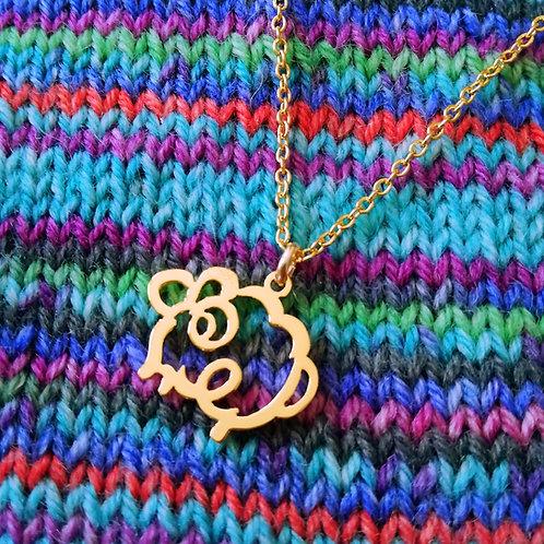 SHEEP in English pendant