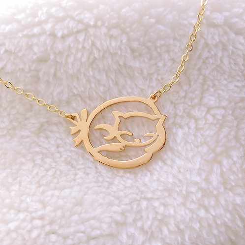 CAT in Hiragana pendant