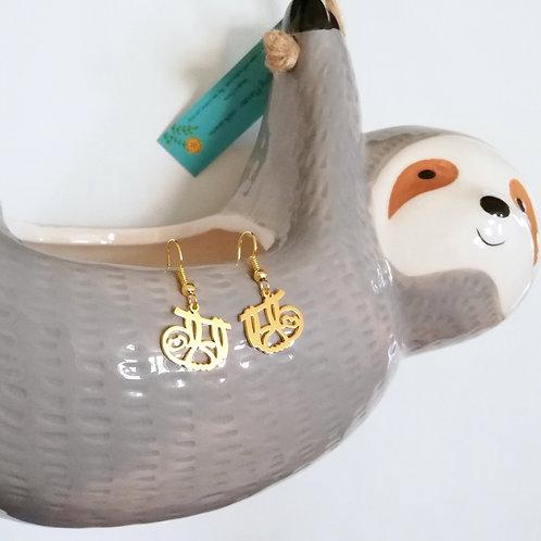 SLOTH in Arabic earring