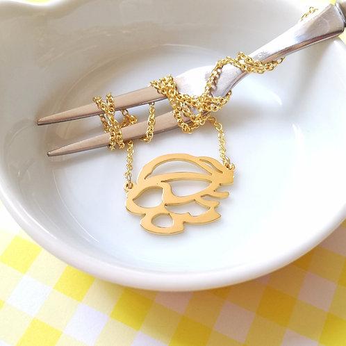 SHRIMP in Hiragana pendant