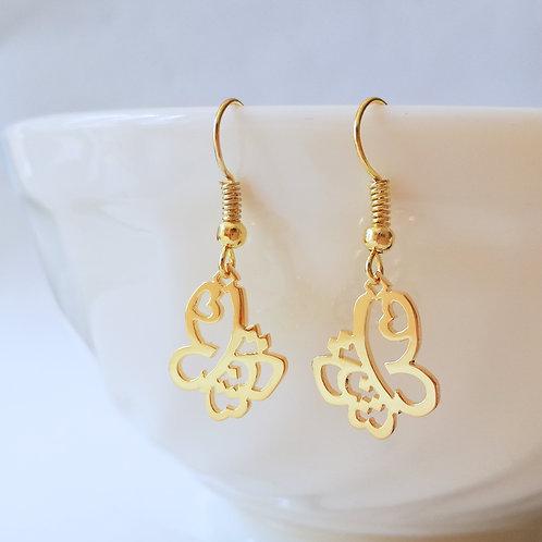 BUTTERFLY in Arabic earring