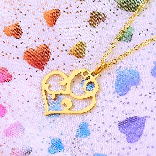 HEART in Arabic pendant